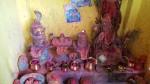 Shivalingam und Shivastatue in Nepal