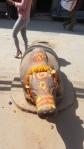 Nandi, das Reittier Shivas in einem Tempel in Kathmandu